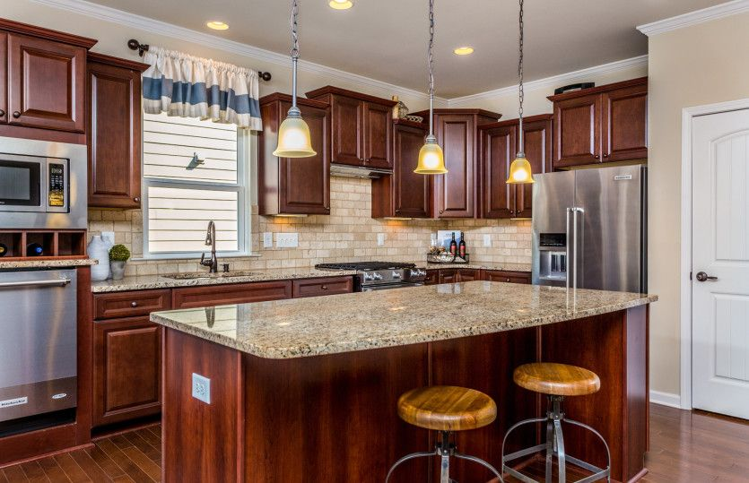 Kitchen-in-Abbeyville-at-Carolina Arbors by Del Webb-in-Durham