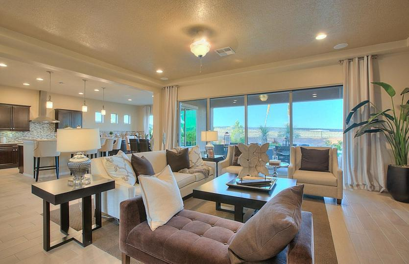 Greatroom-and-Dining-in-Endeavor-at-Del Webb at Mirehaven-in-Albuquerque