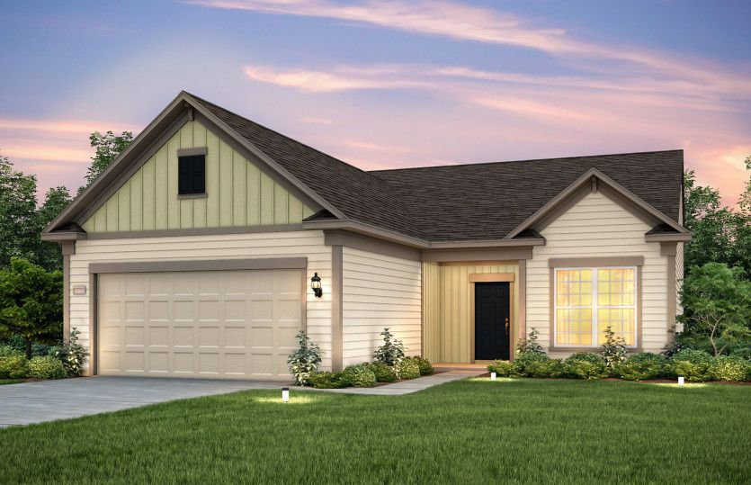 Exterior featured in the Castle Rock By Del Webb in Charlotte, SC