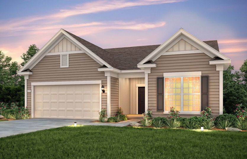 Exterior featured in the Abbeyville By Del Webb in Charlotte, SC