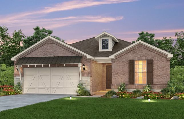 Summerwood:Exterior E, the Summerwood with 2-car garage with storage