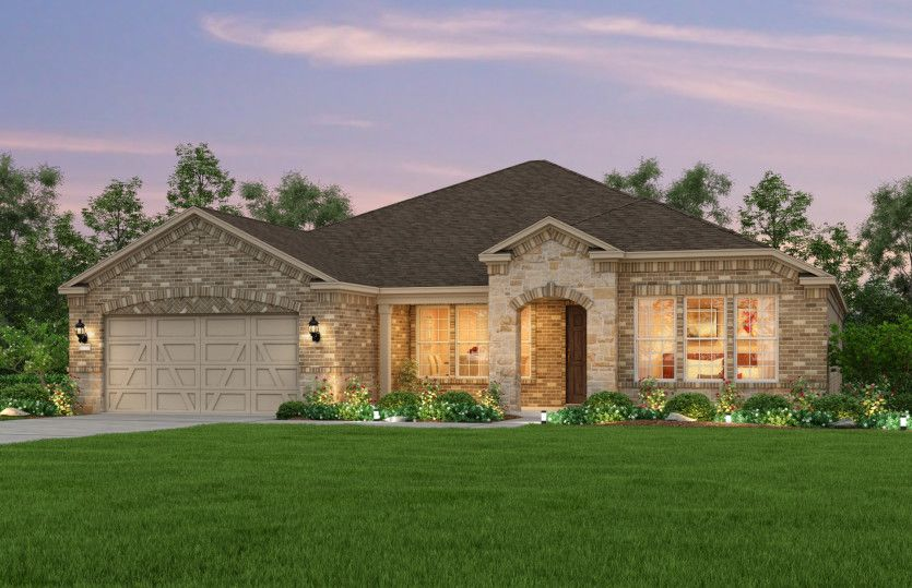 Exterior featured in the Tangerly Oak By Del Webb in Dallas, TX
