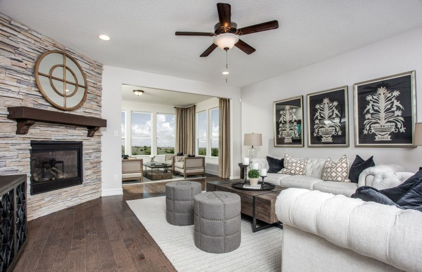 Living Area featured in the Martin Ray By Del Webb in Dallas, TX