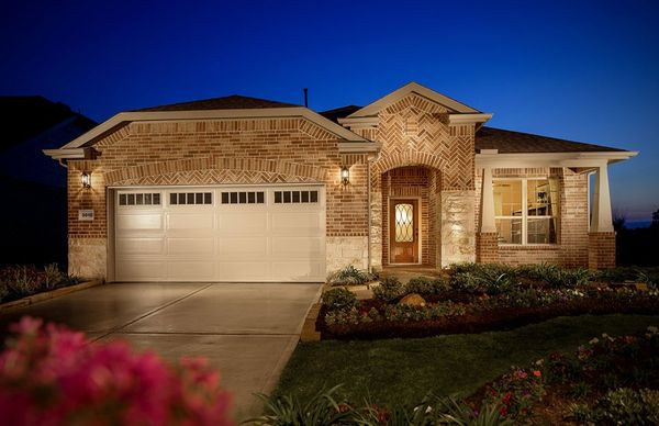 Martin Ray:The Martin Ray, a one-story home with 2-car garage, shown with Home Exterior E
