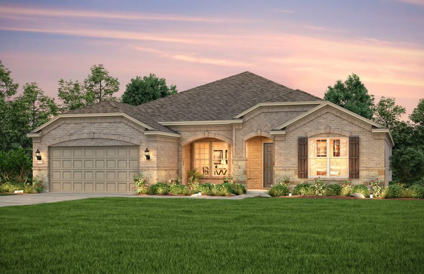 Exterior featured in the Tangerly Oak By Del Webb in San Antonio, TX