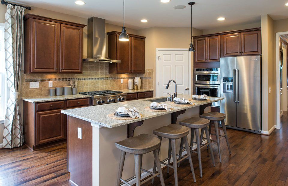 Kitchen-in-Bluemont with Finished Basement-at-Celebrate by Del Webb-in-Fredericksburg