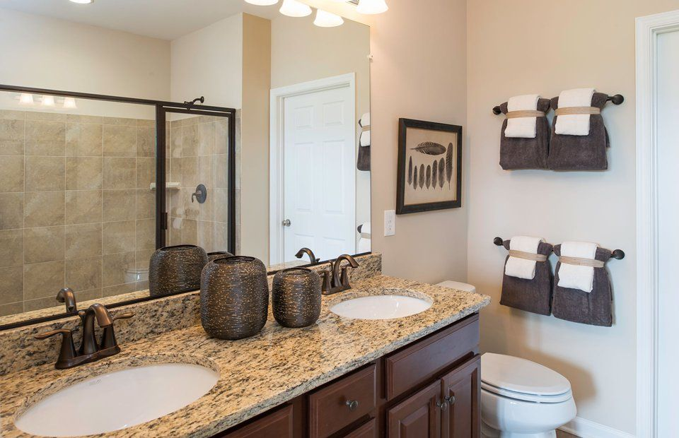 Bathroom-in-Bluemont with Finished Basement-at-Celebrate by Del Webb-in-Fredericksburg