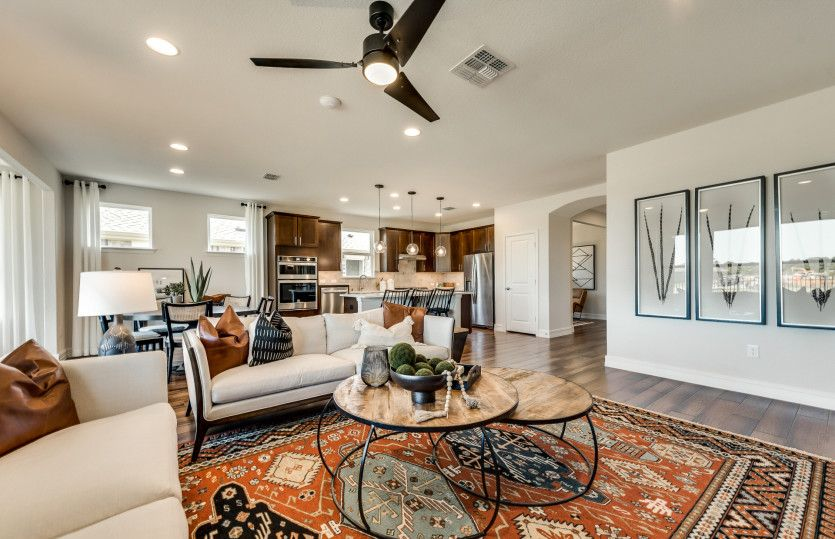 Living Area featured in the Abbeyville By Del Webb in Dallas, TX
