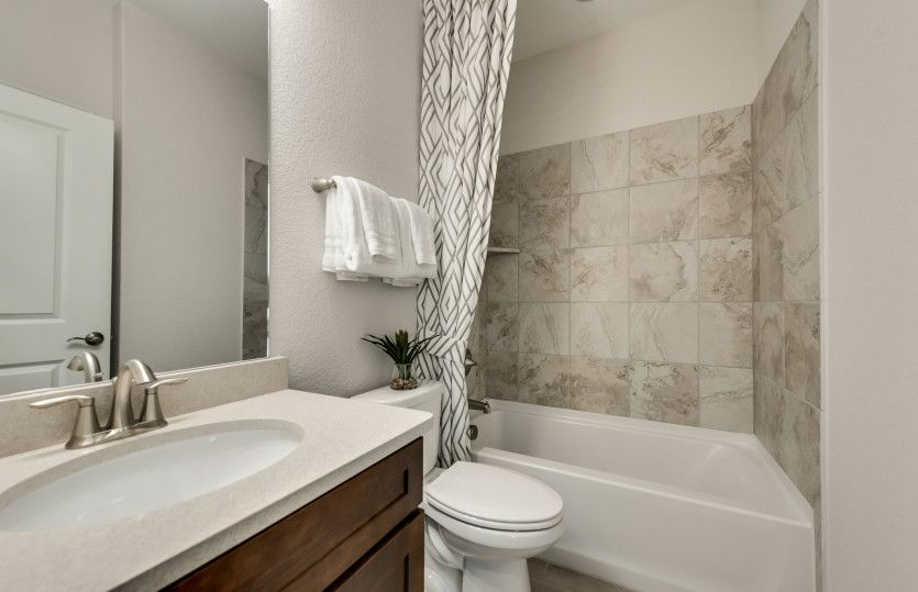 Bathroom featured in the Abbeyville By Del Webb in Dallas, TX