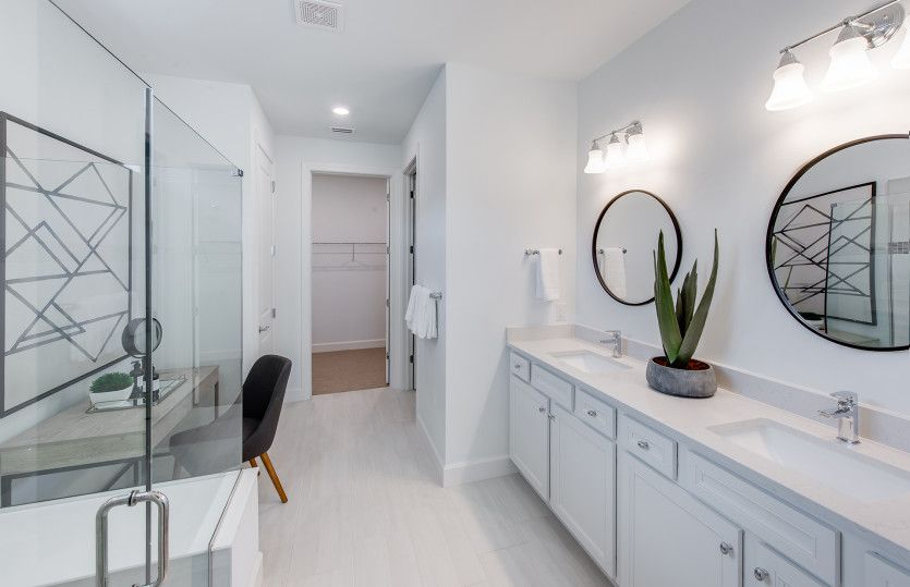 Bathroom featured in the Mystique By Del Webb in Naples, FL