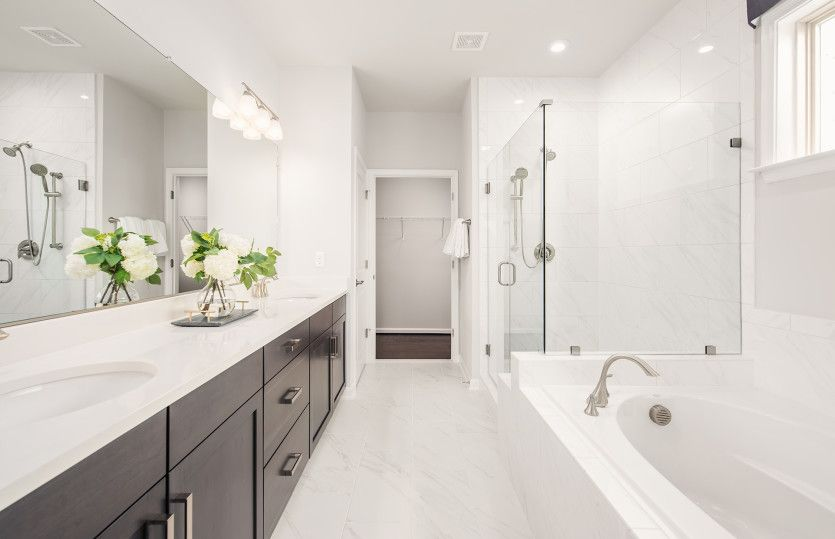 Bathroom featured in the Abbeyville By Del Webb in Washington, VA
