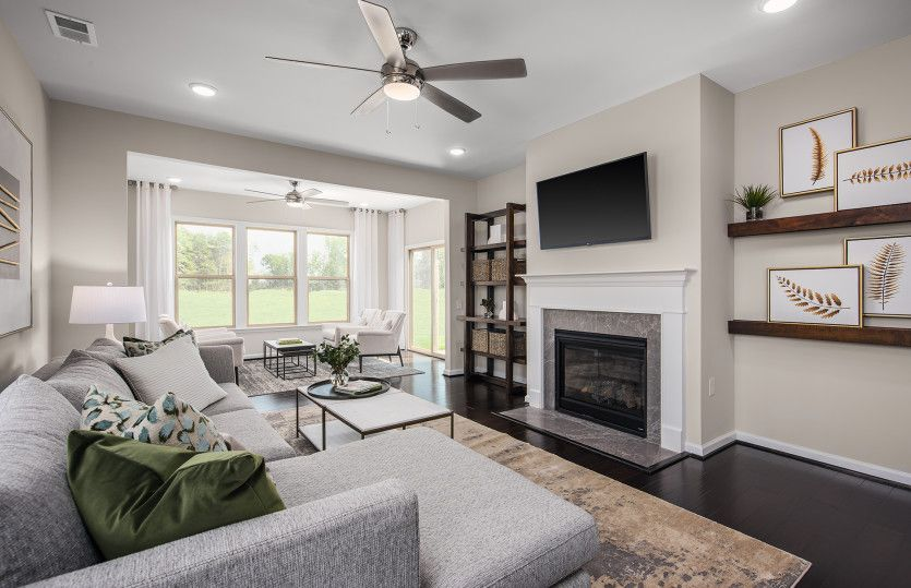 Living Area featured in the Bluemont By Del Webb in Washington, VA