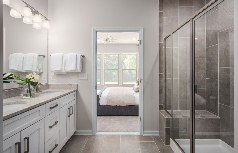 Bathroom featured in the Bluemont By Del Webb in Washington, VA