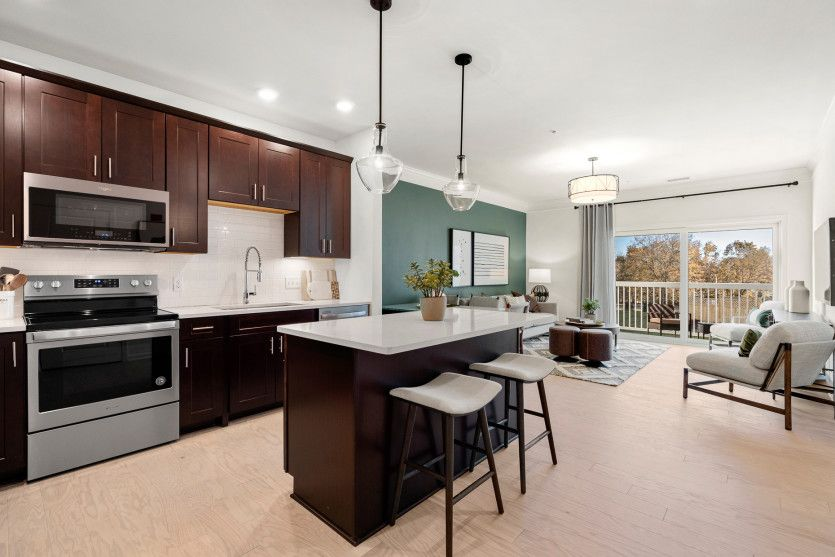 Kitchen featured in the Morris By Del Webb in Worcester, MA