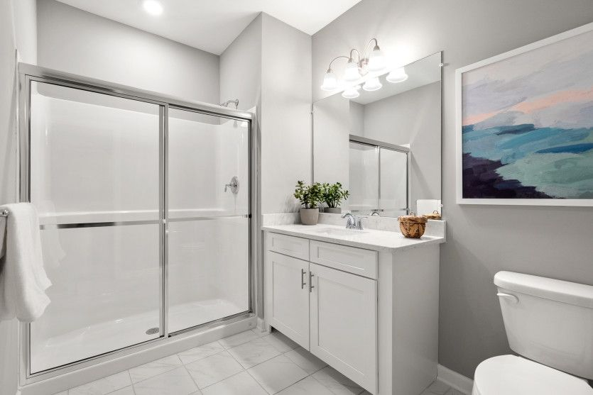 Bathroom featured in the Morris By Del Webb in Worcester, MA