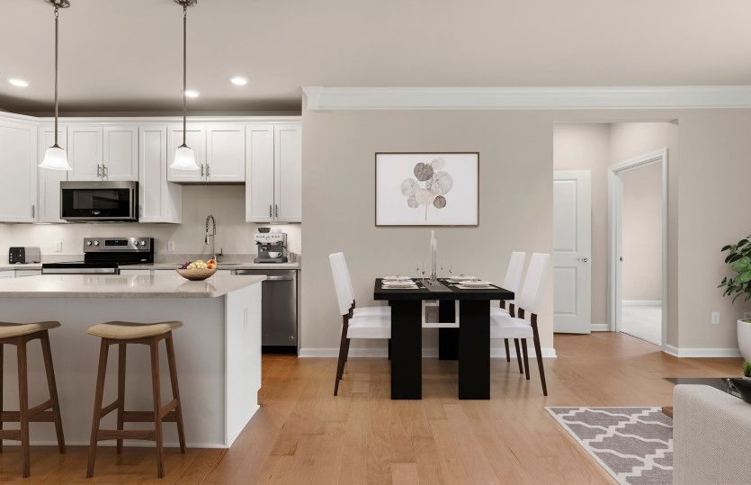 Kitchen featured in the Fenton By Del Webb in Worcester, MA