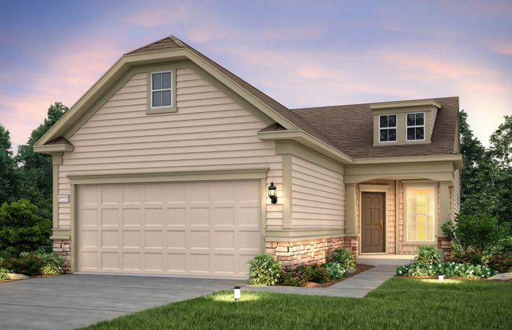 Steel Creek:Steel Creek Exterior 5 features stone, siding, shakes and covered front door