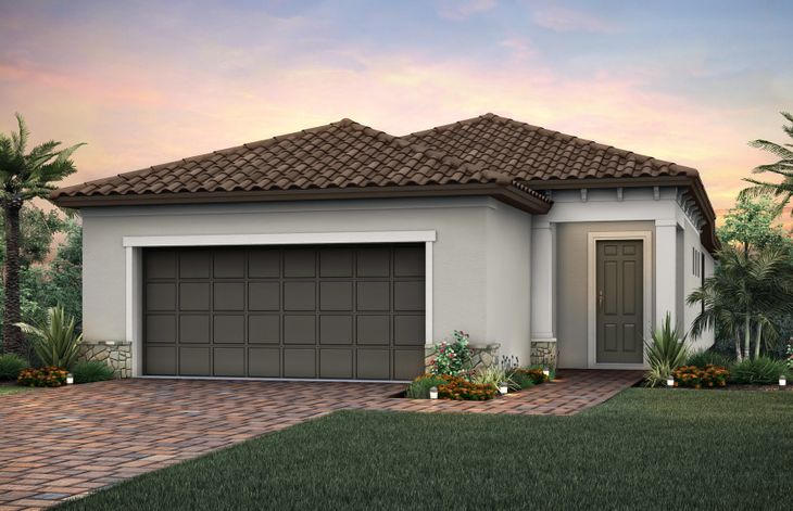 Exterior:Elevation FM2B with tile roof