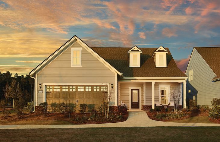 Martin Ray:The Martin Ray with brick details on full front porch, dormer windows and two car garage, shown with