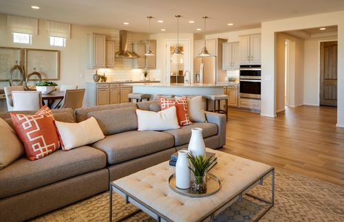 Greatroom-and-Dining-in-Hideaway-at-Del Webb at Dove Mountain-in-Marana