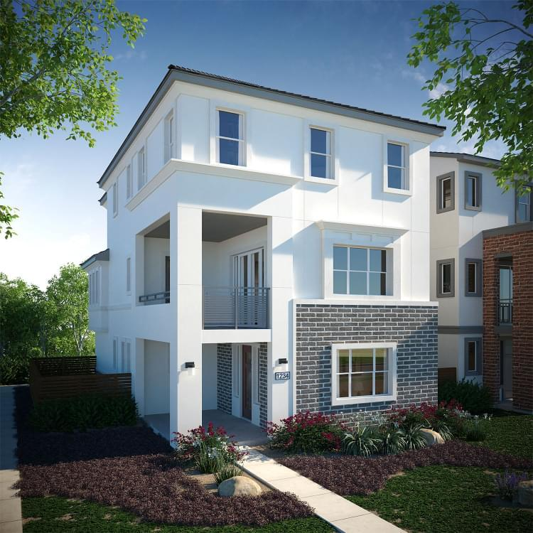 Exterior featured in the Residence 3 By DeNova Homes in San Jose, CA