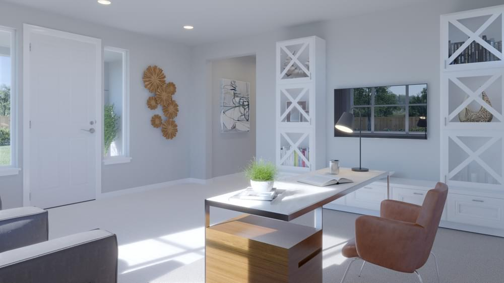 Living Area featured in the Residence 3 By DeNova Homes in San Jose, CA