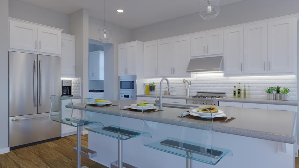 Kitchen featured in the Residence 3 By DeNova Homes in San Jose, CA