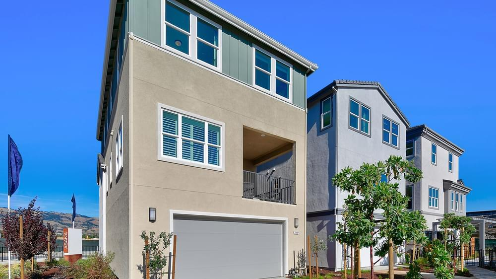 Exterior featured in the Residence 2 By DeNova Homes in San Jose, CA