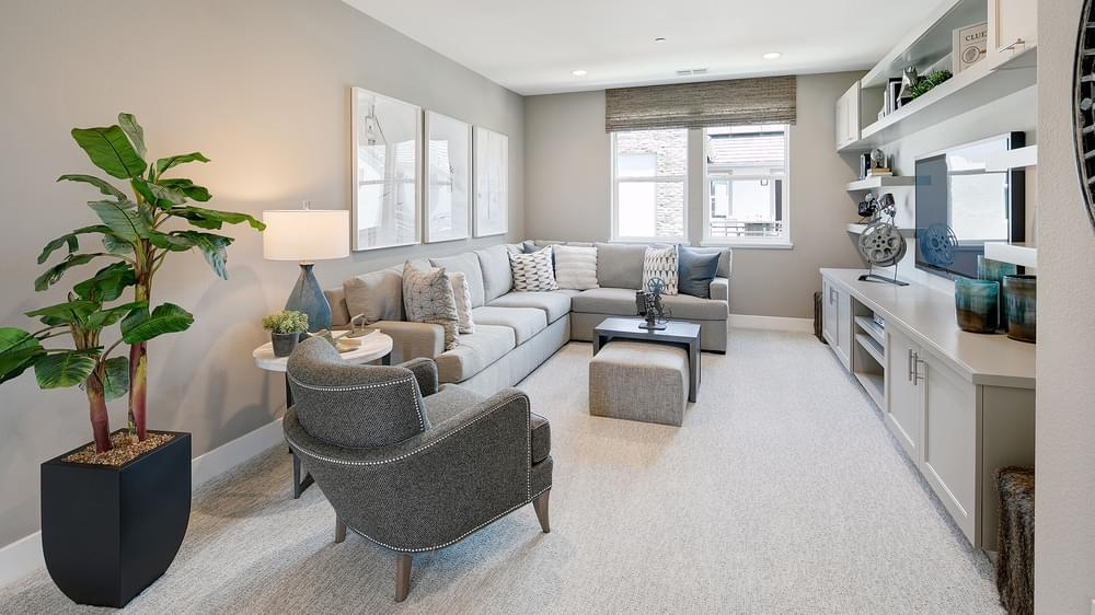 Living Area featured in the Residence 5 By DeNova Homes in San Jose, CA