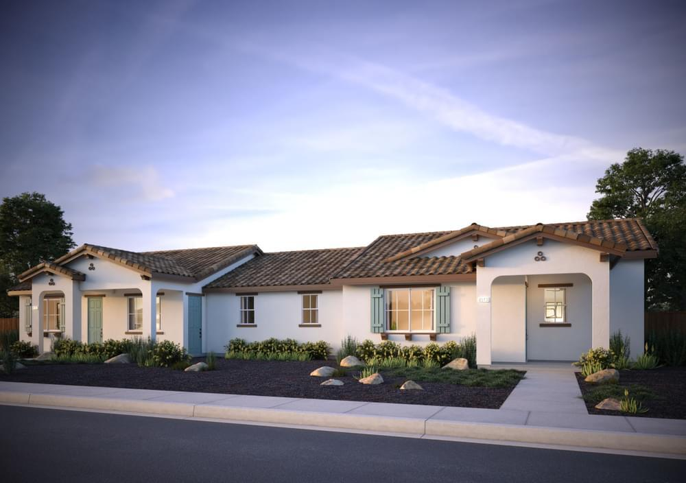 Exterior featured in the Residence 4 (Duet) By DeNova Homes in Vallejo-Napa, CA