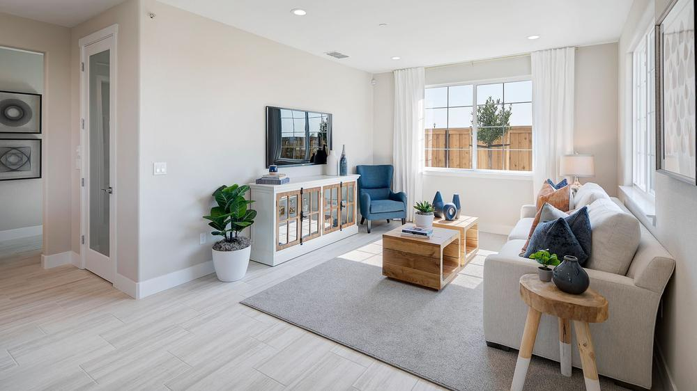 Living Area featured in the Residence 5 (Duet) By DeNova Homes in Vallejo-Napa, CA