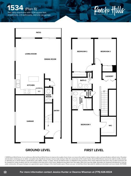 1534 Townhome Floorplan