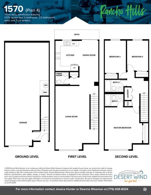 1570 Townhome Floor plan