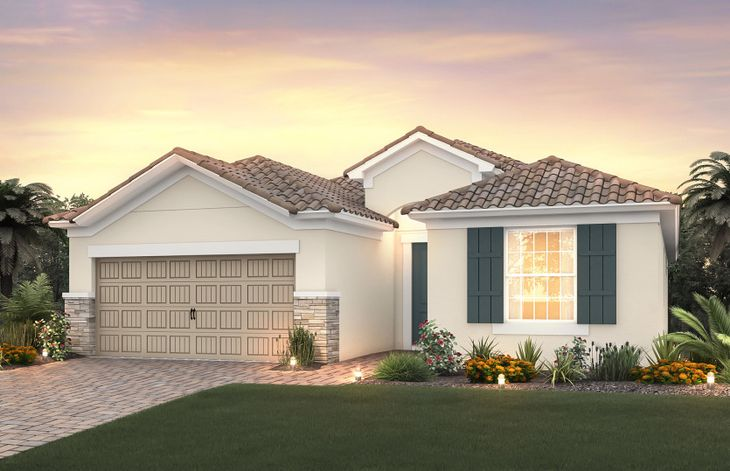 Summerwood:Elevation FM2A with stone