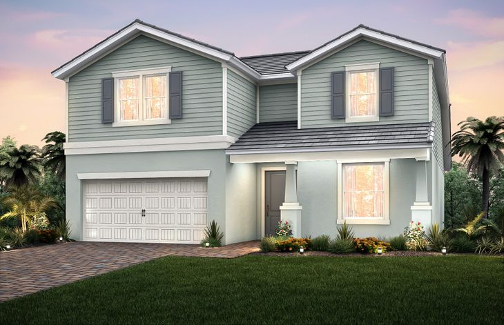 Citrus Grove:Elevation C2B with front porch