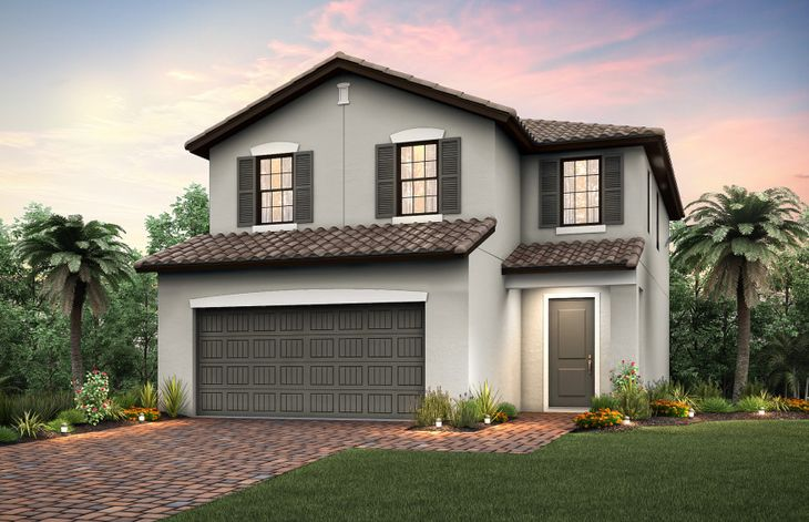 Starboard:The Starboard, a two-story home with a 2 car garage, shown with Home Exterior FM2B