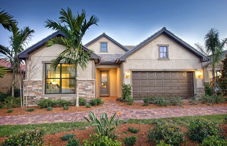 Abbeyville:Exterior LC2B with decorative stone accents
