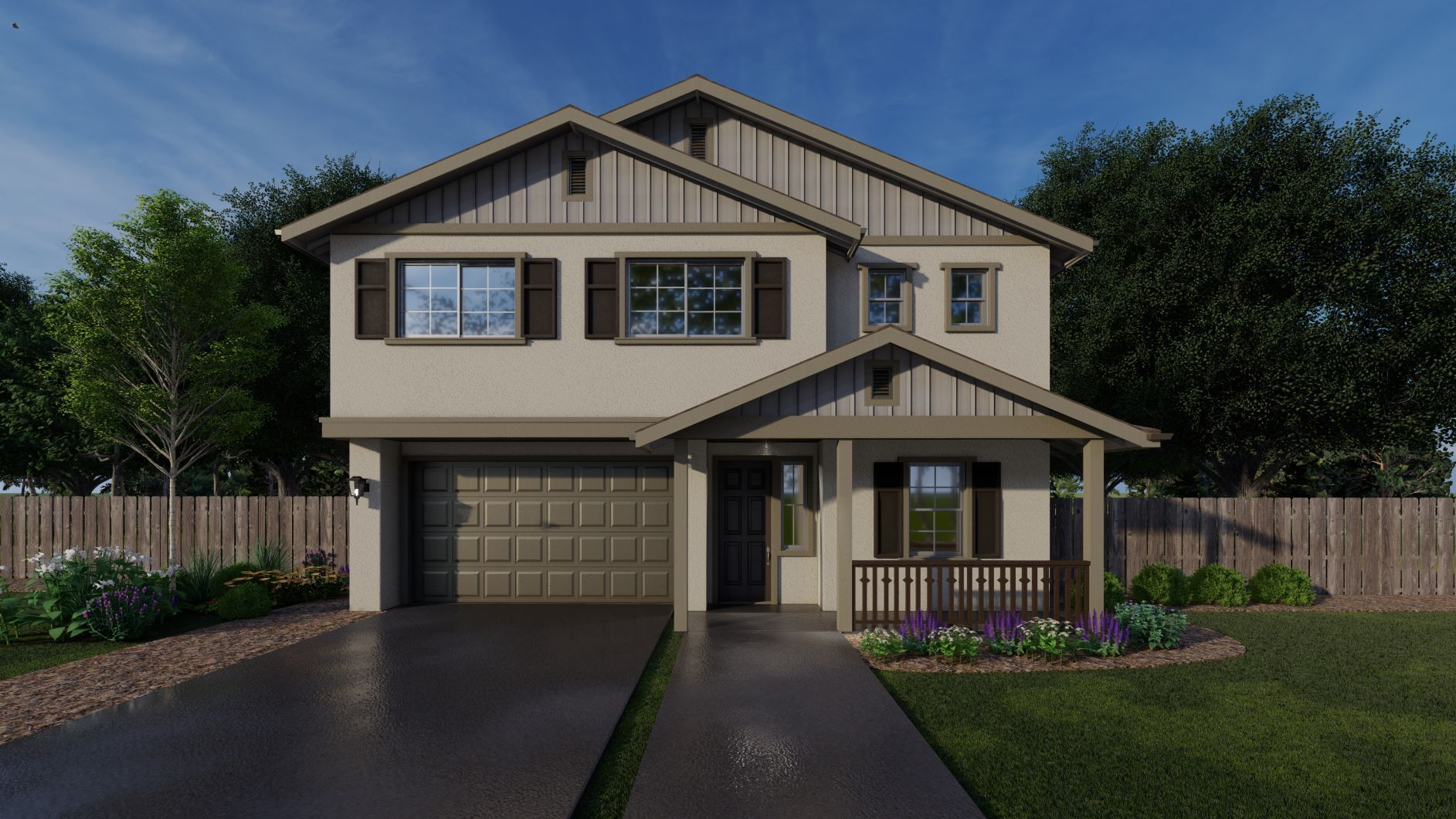 Exterior featured in the Cypress By Discovery Homes in Chico, CA