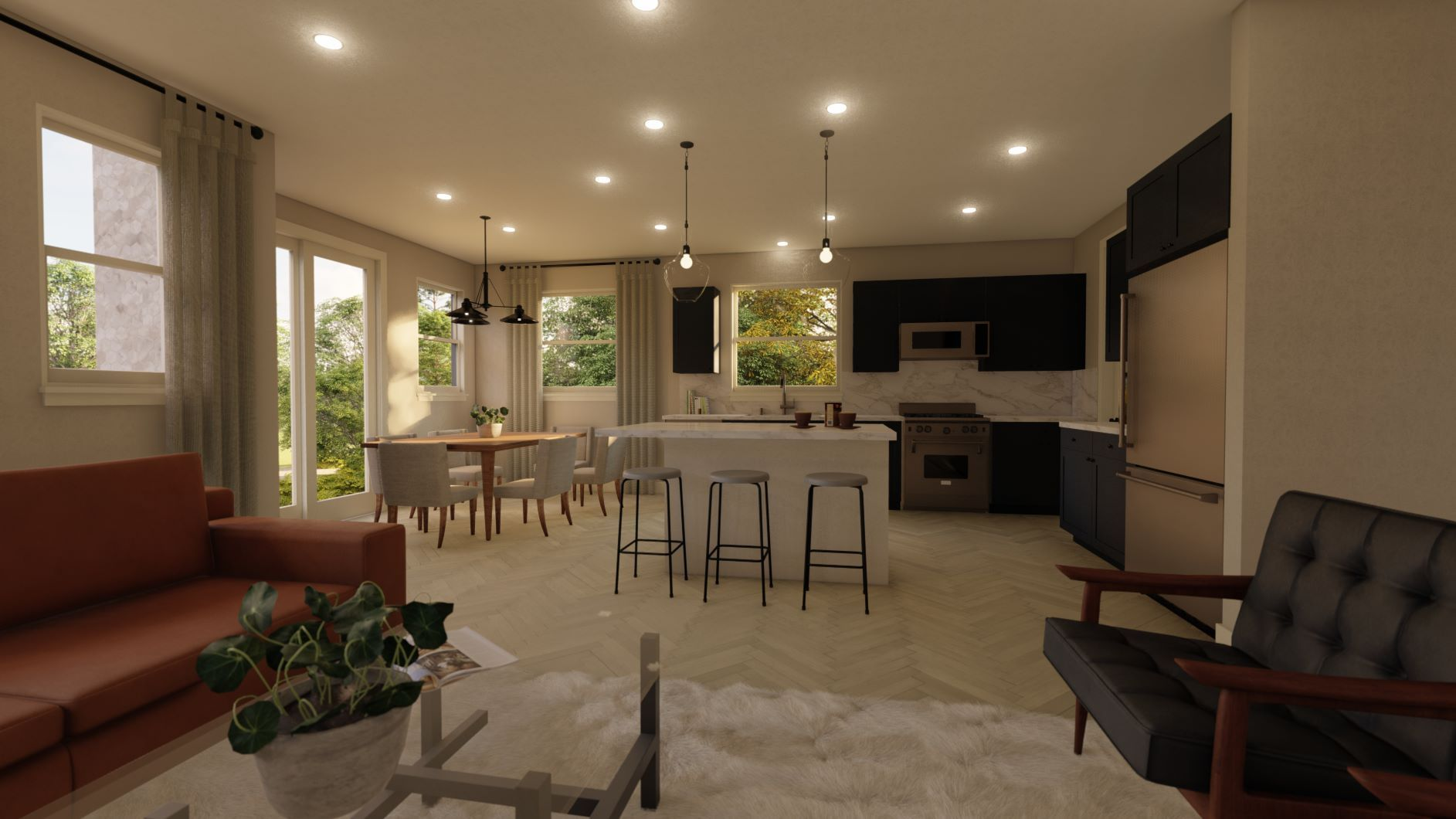 Living Area featured in the Residence 2 By Discovery Homes in Oakland-Alameda, CA