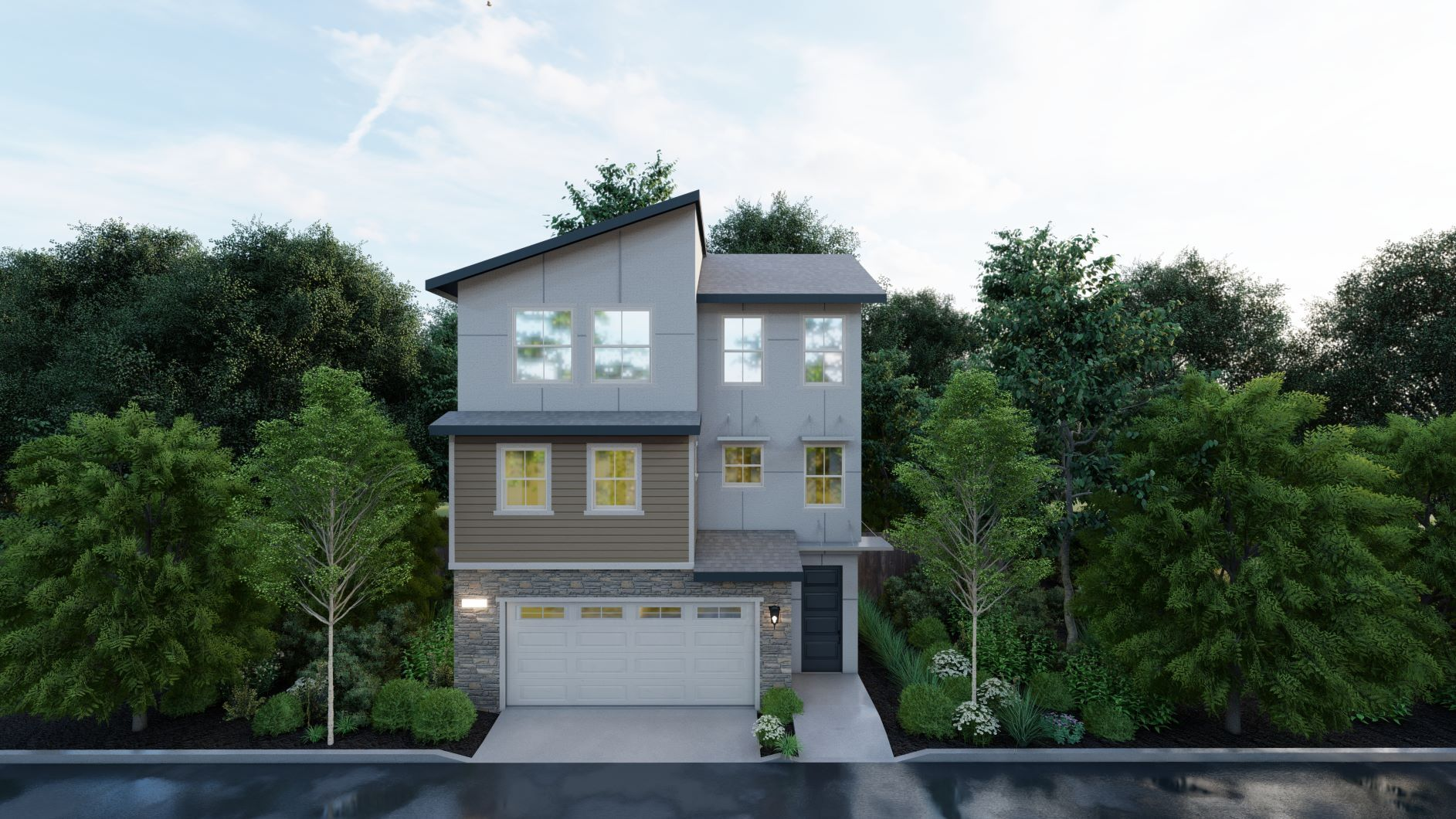 Exterior featured in the Residence 2 By Discovery Homes in Oakland-Alameda, CA