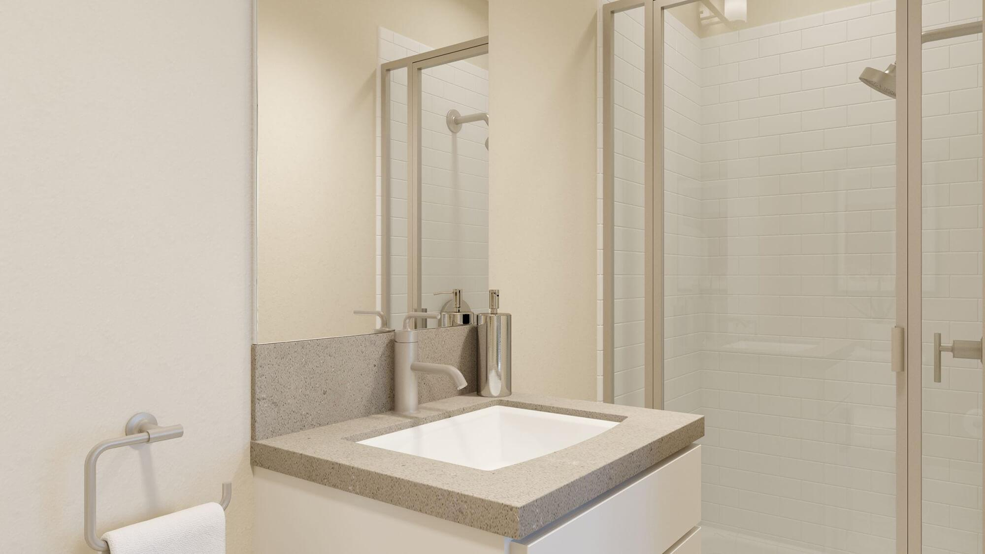 Bathroom featured in the Plan 1 By Dividend Homes in San Jose, CA