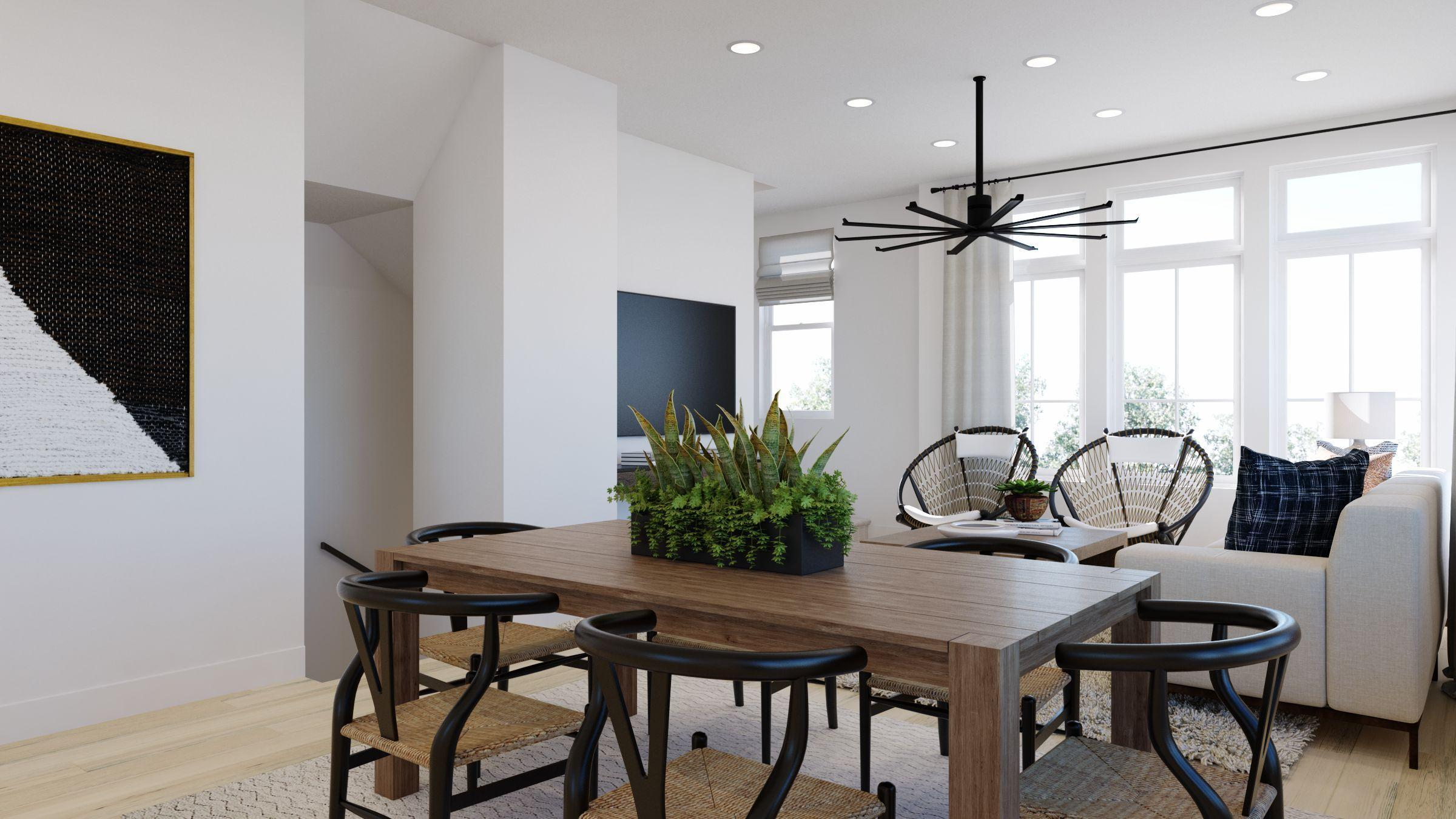 Living Area featured in the Plan 3X By Dividend Homes in San Jose, CA
