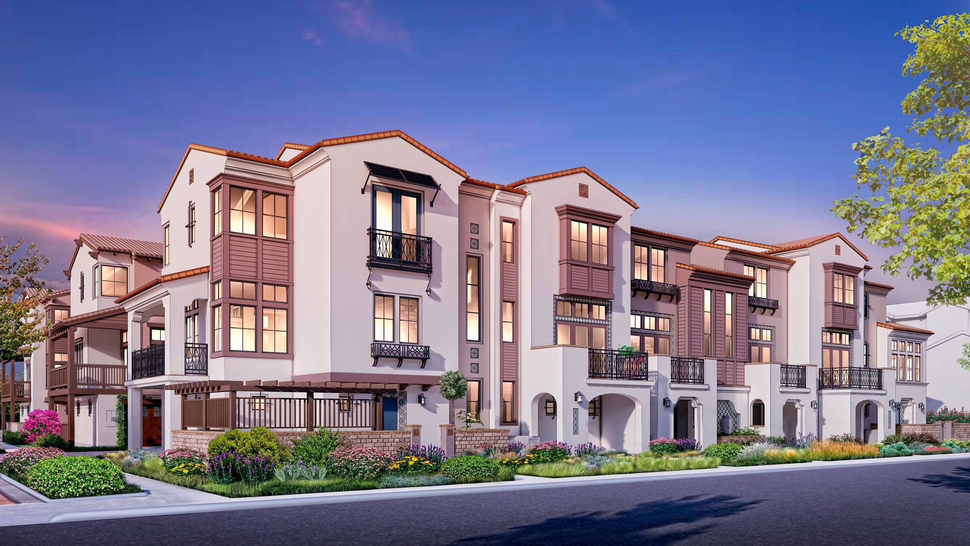 Exterior featured in the Maravilla- Plan 1 By Dividend Homes in San Jose, CA