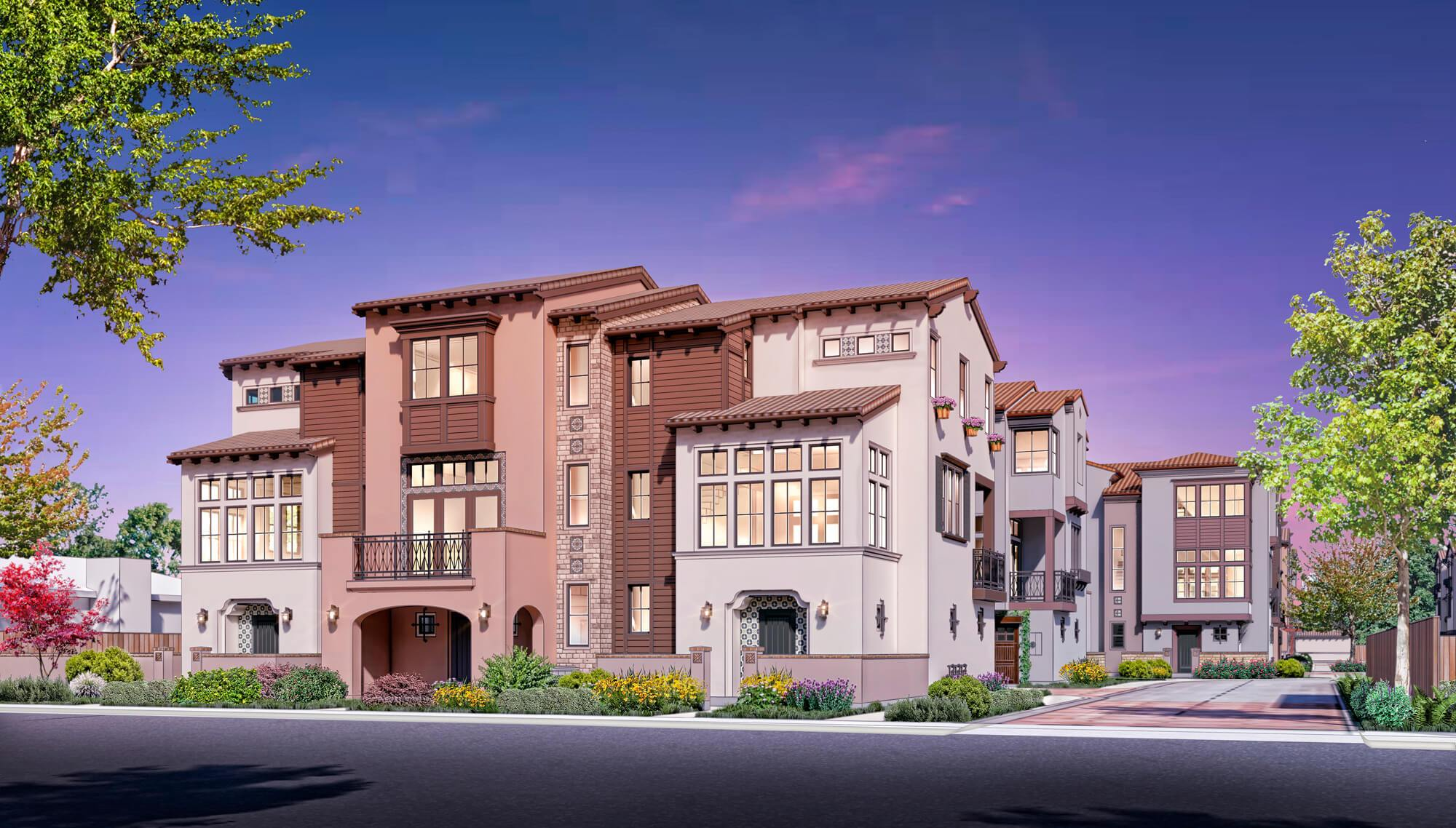 Exterior featured in the Maravilla- Plan 4 By Dividend Homes in San Jose, CA