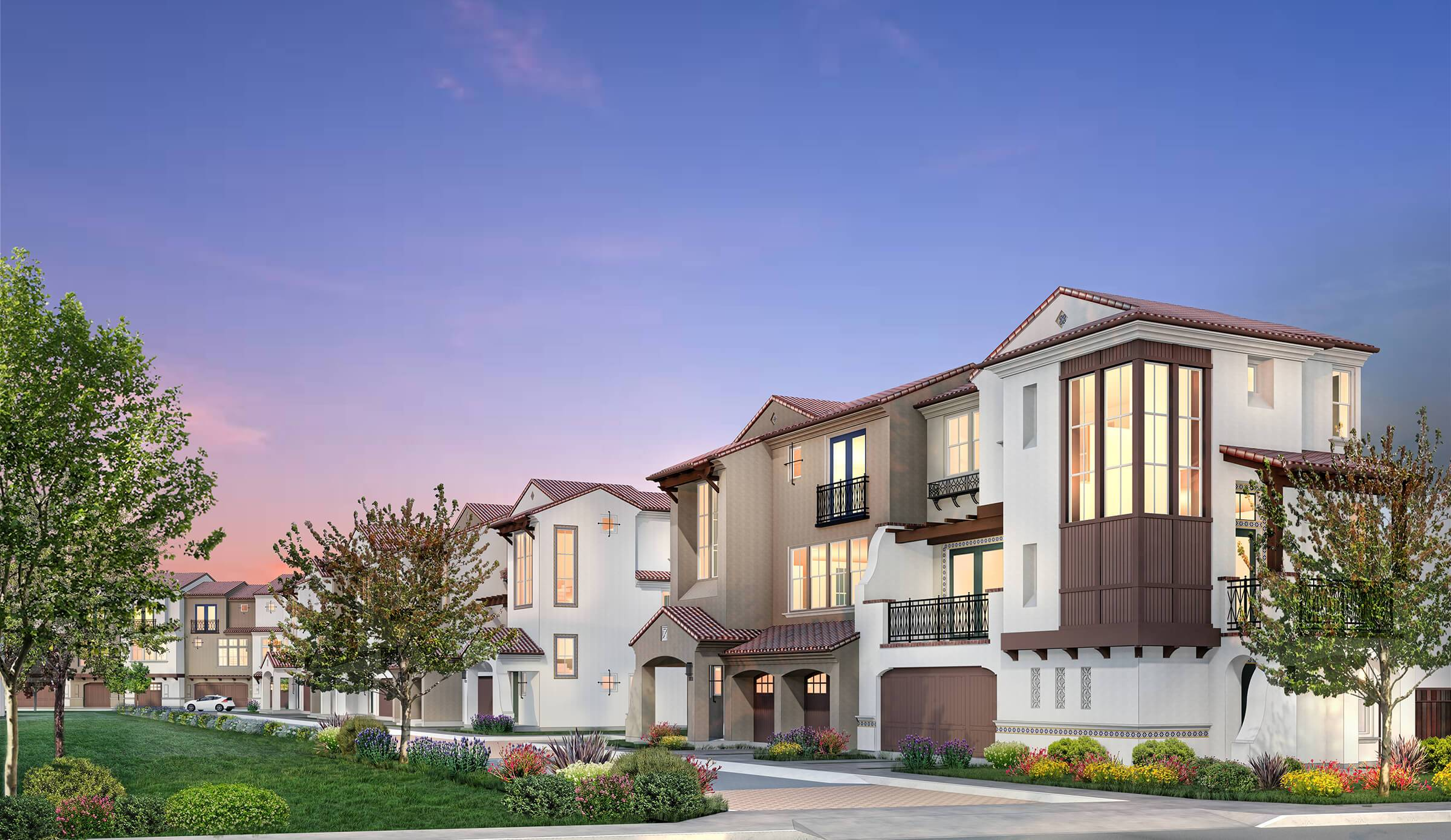 Exterior featured in the Cantera- Homesite 7 - Plan D-R By Dividend Homes in San Jose, CA