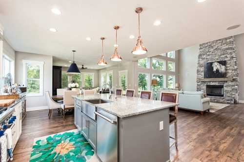 Greatroom-and-Dining-in-The Rosedale-at-Canton- Build On Your Lot-in-Canton