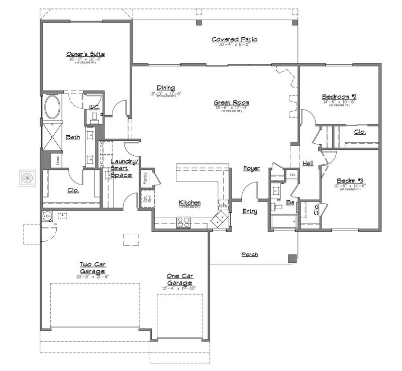 Endless twilight home plan by dorn homes in viewpoint for Twilight house floor plan