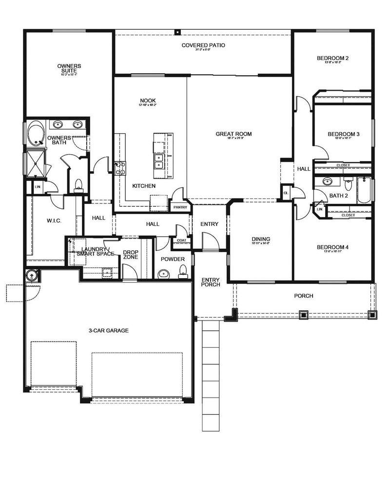 evergreen home plan by dorn homes in pronghorn ranch