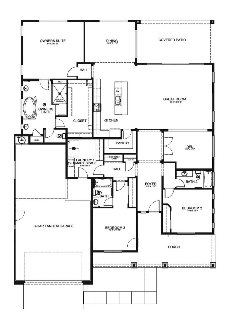Ponderosa home plan by dorn homes in pronghorn ranch for Ponderosa ranch house floor plan
