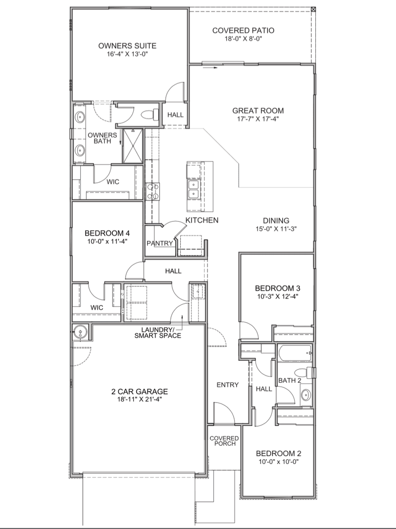 Dakota Four Bedroom Option
